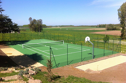 contruction terrain de tennis