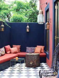 Le rondin de bois en déco terrasse